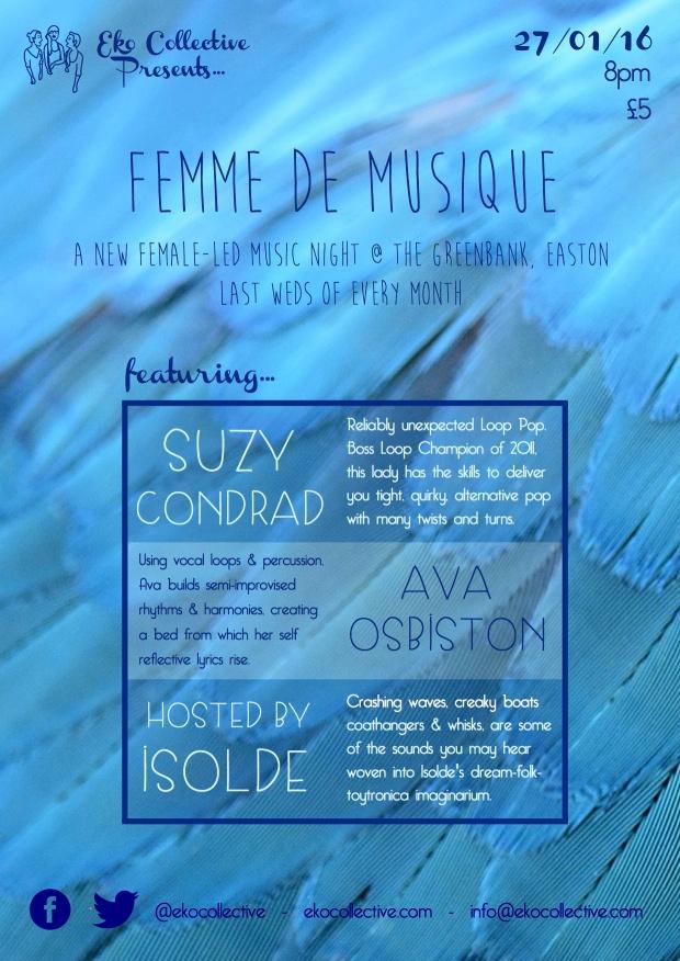 Femme de Musique Jan'16 poster
